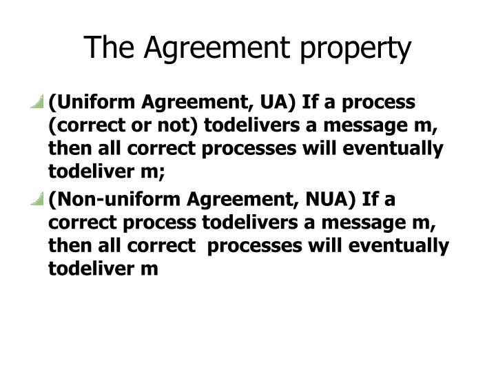 The Agreement property