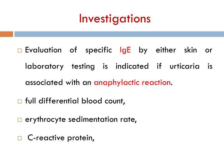 Investigations