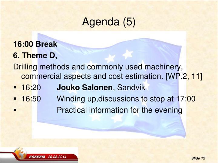 Agenda (5)