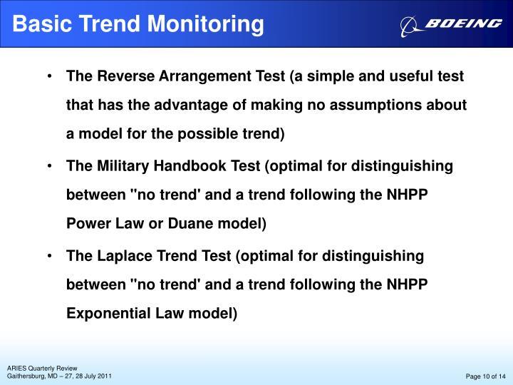 Basic Trend Monitoring