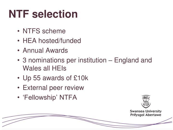 NTF selection