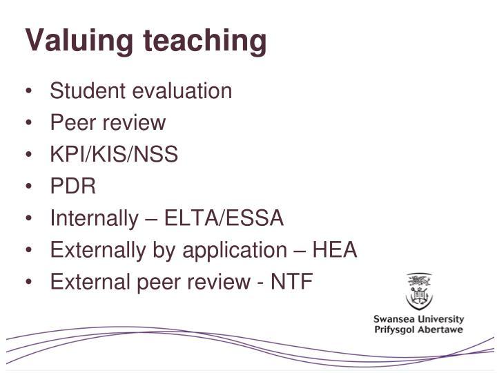 Valuing teaching