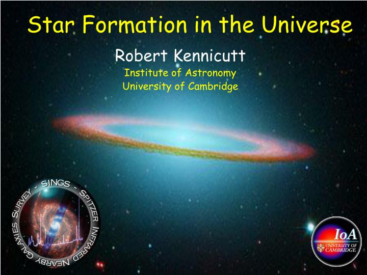 star formation in the universe n.