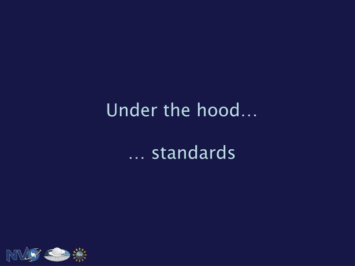 Under the hood…
