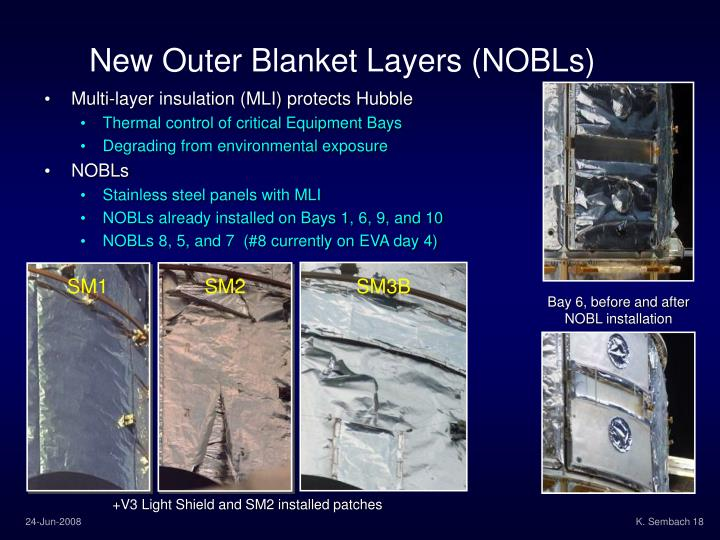 New Outer Blanket Layers (NOBLs)