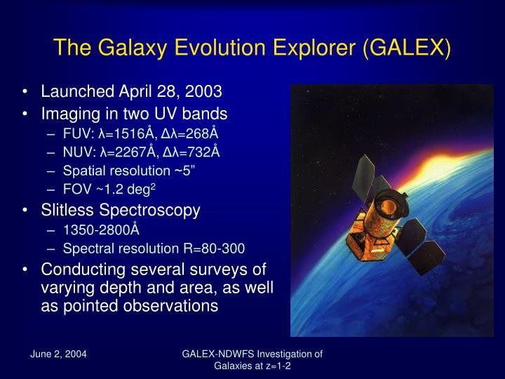 The galaxy evolution explorer galex