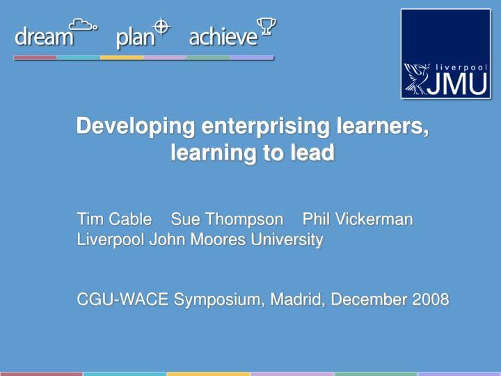 Developing enterprising learners,