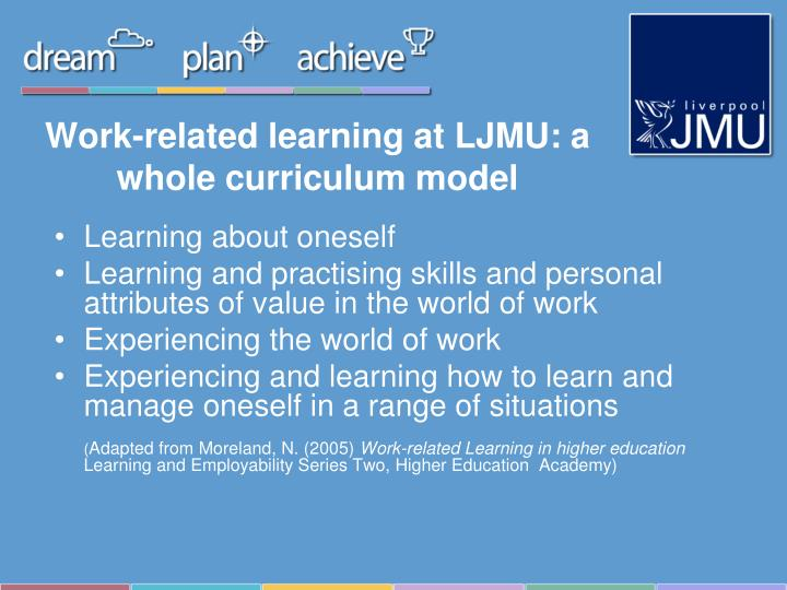 Work-related learning at LJMU: a whole curriculum model
