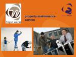 property maintenance service