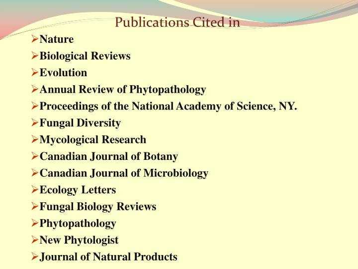 Publications Cited in