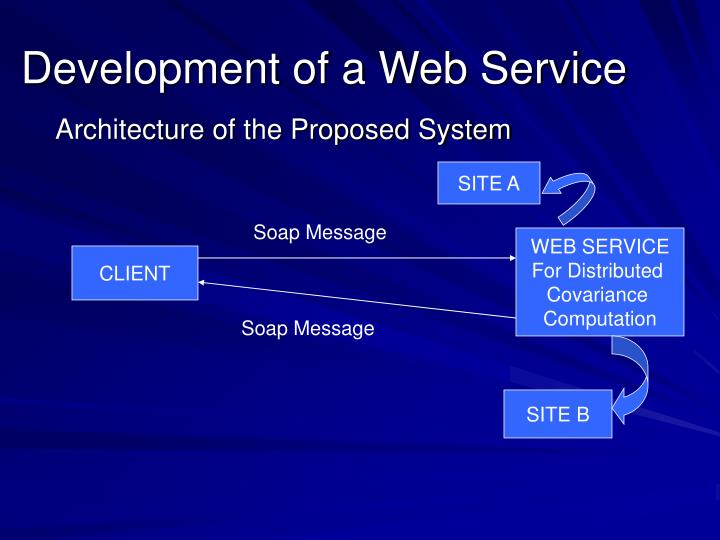 Development of a Web Service