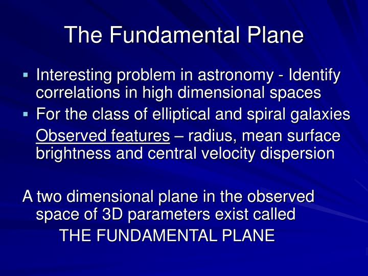 The Fundamental Plane