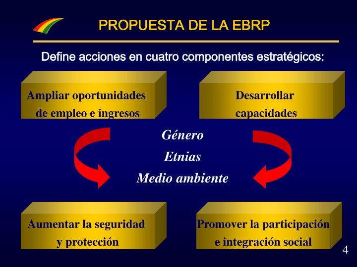 PROPUESTA DE LA EBRP