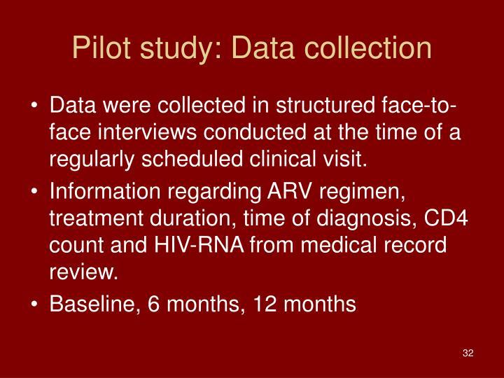 Pilot study: Data collection