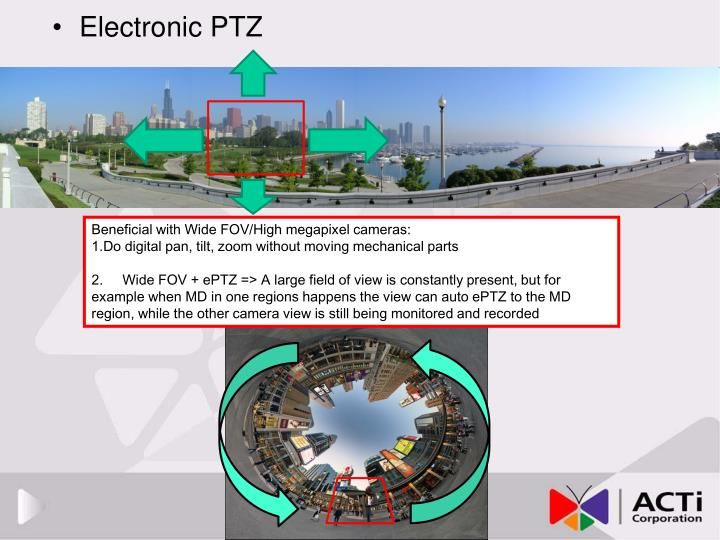 Electronic PTZ