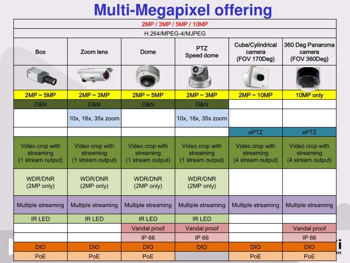 Multi-Megapixel offering