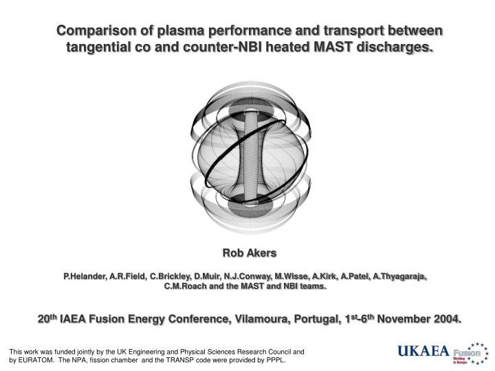 Comparison of plasma performance and transport between tangential co and counter-NBI heated MAST dis...