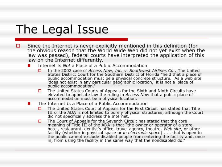 The Legal Issue
