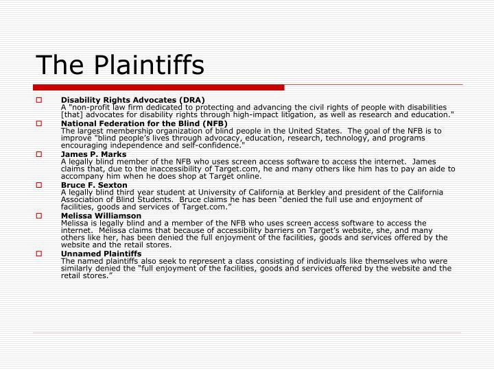 The plaintiffs
