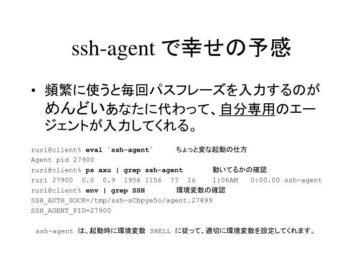 ssh-agent