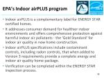 epa s indoor airplus program