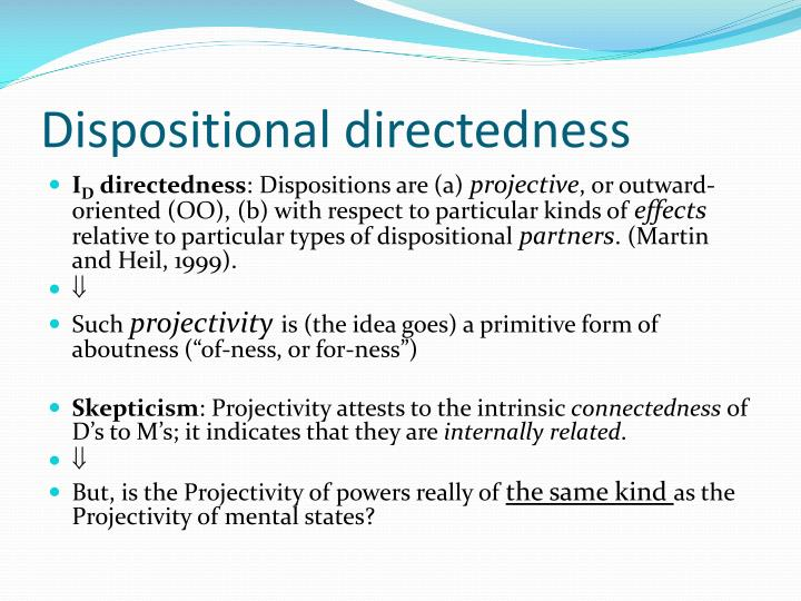 Dispositional directedness