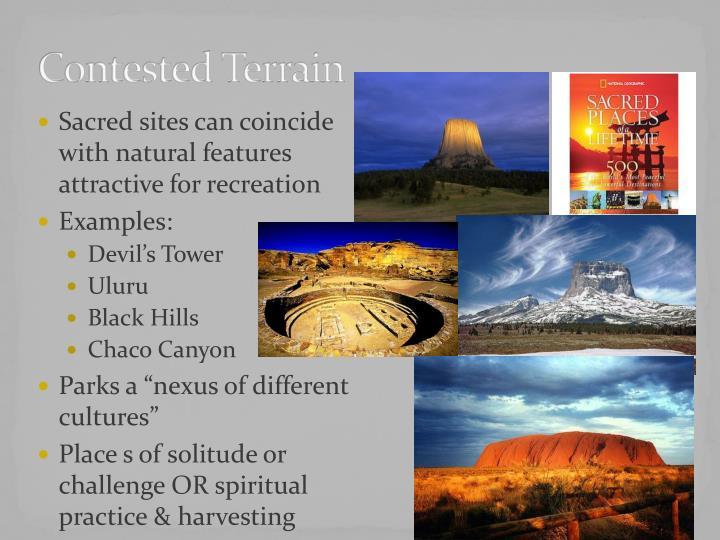 Contested terrain