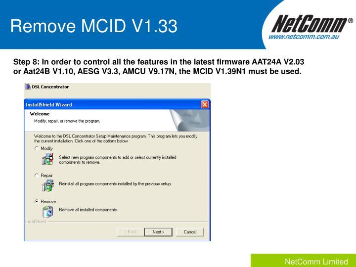 Remove MCID V1.33