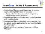 home base intake assessment