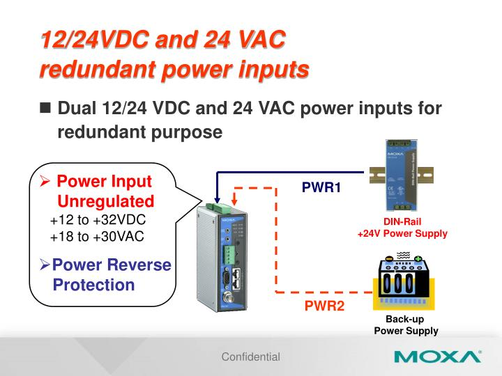 12/24VDC and 24 VAC