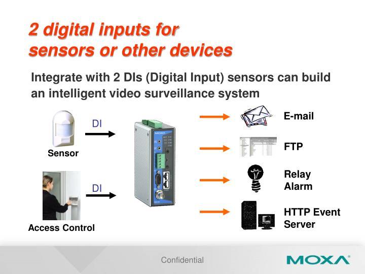 2 digital inputs for