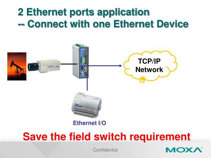 2 Ethernet ports application