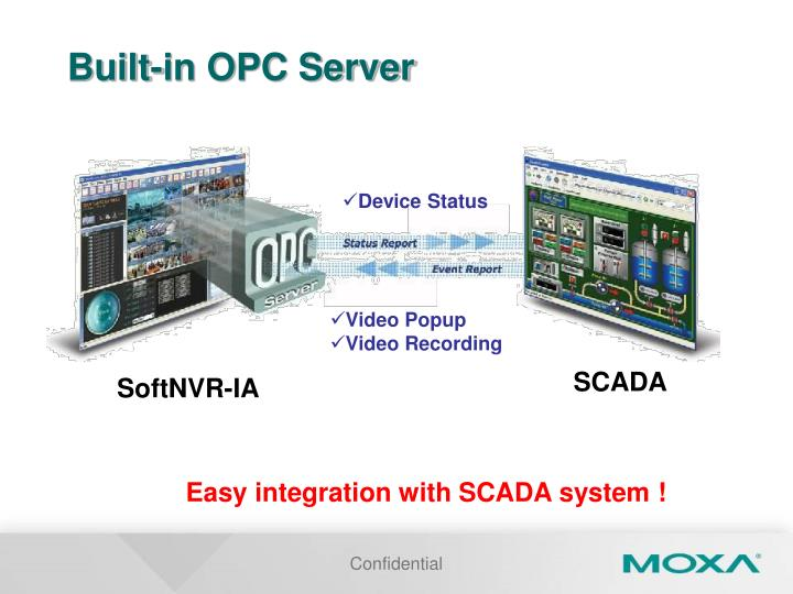 Built-in OPC Server