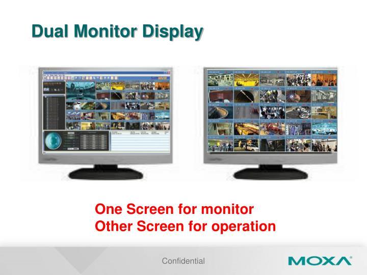Dual Monitor Display