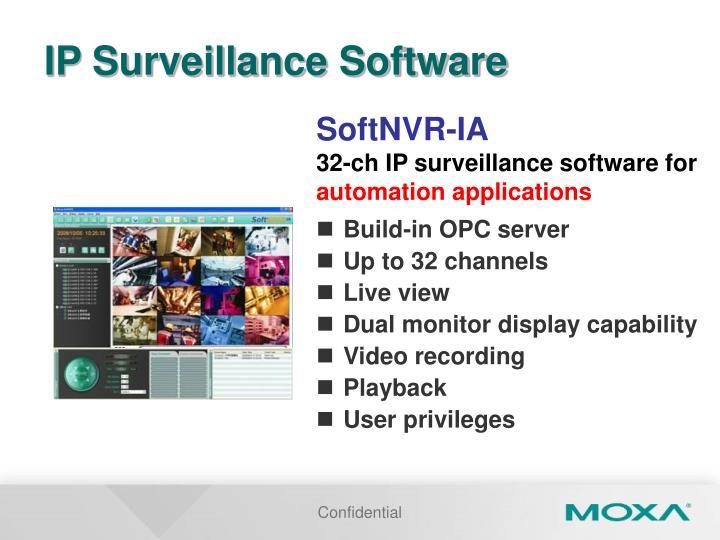IP Surveillance Software