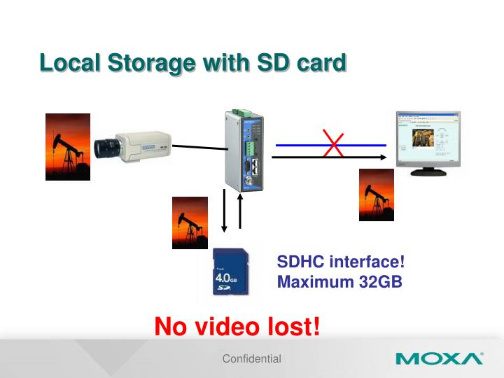Local Storage with SD card