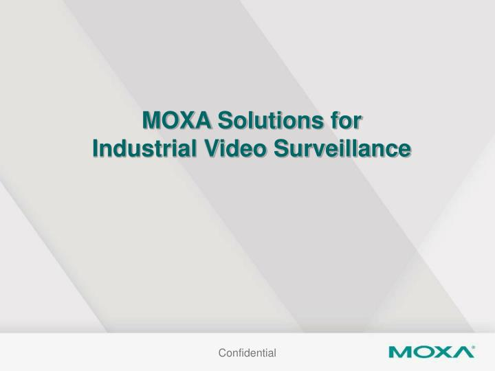 MOXA Solutions for