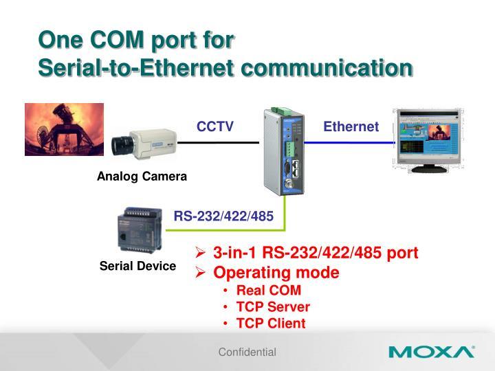 One COM port for