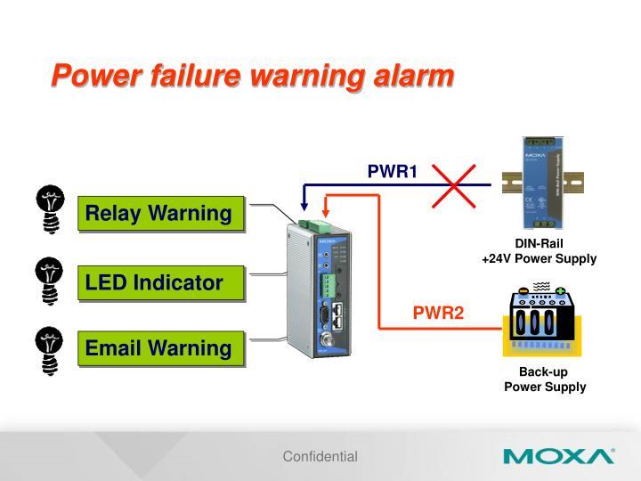 Power failure warning alarm