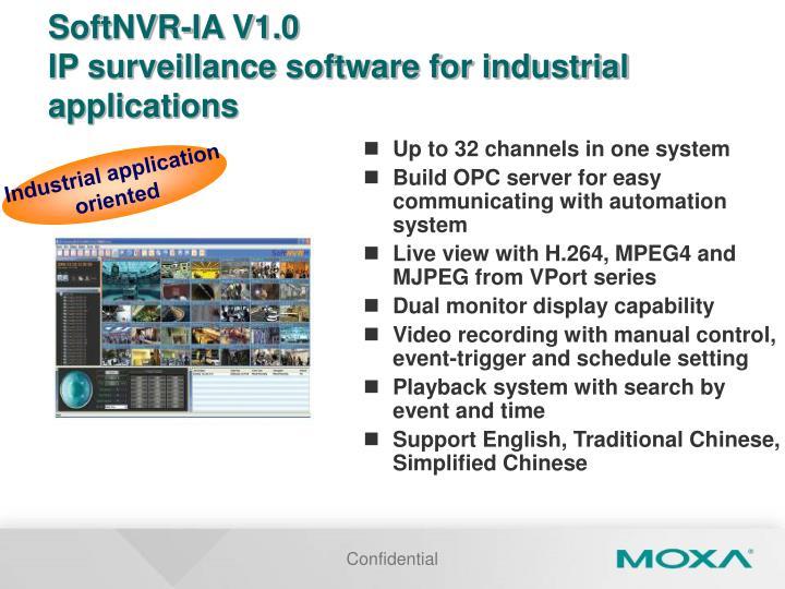 SoftNVR-IA V1.0