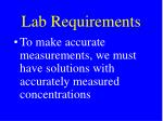 lab requirements