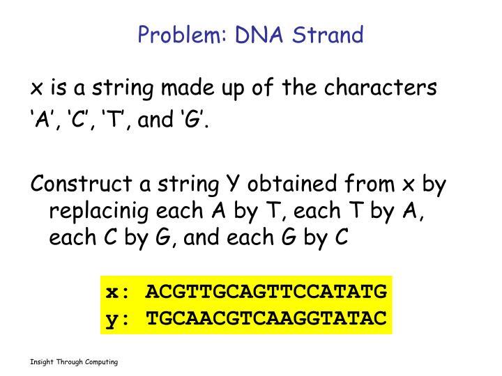 Problem: DNA Strand