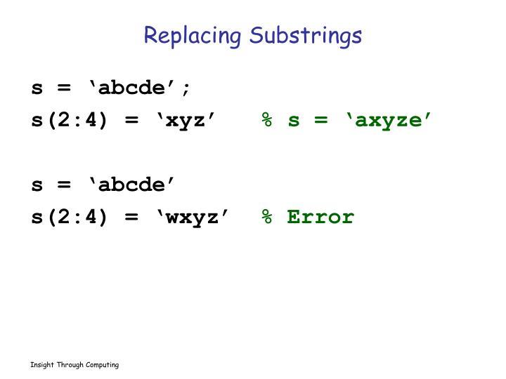 Replacing Substrings