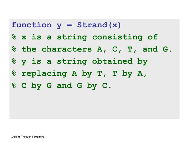 function y = Strand(x)