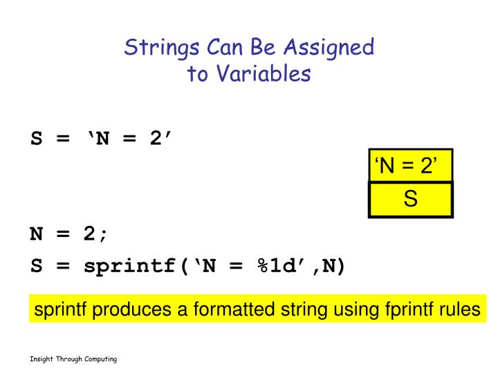 Strings Can Be Assigned