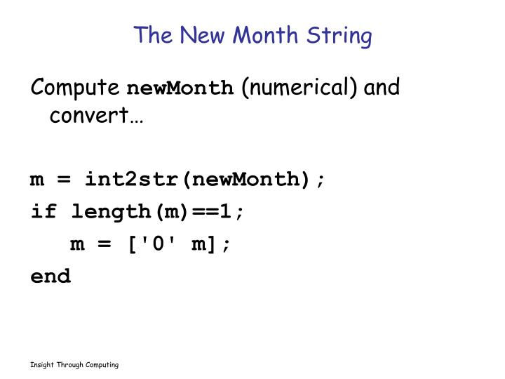 The New Month String