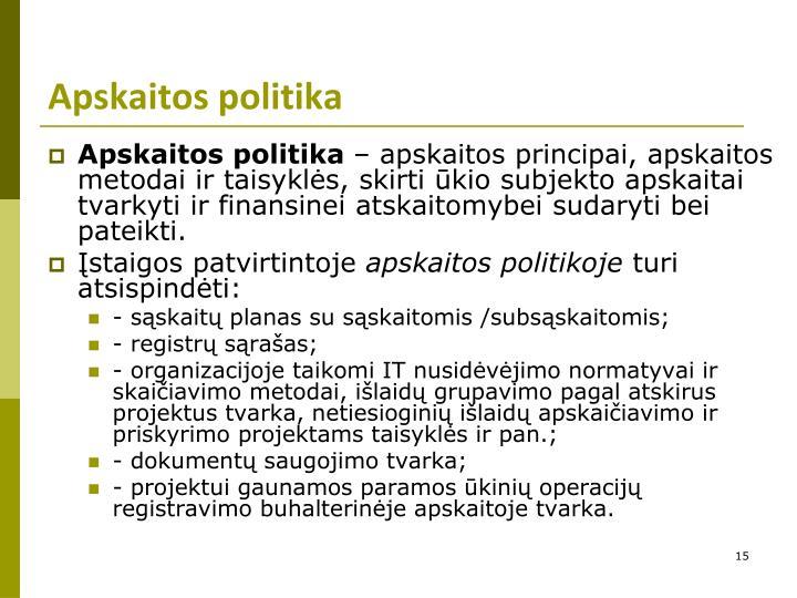 Apskaitos politika