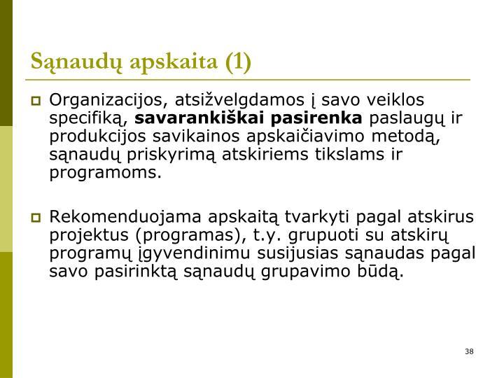 Sąnaudų apskaita (1)