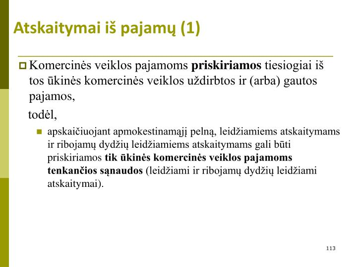 Atskaitymai iš pajamų (1)