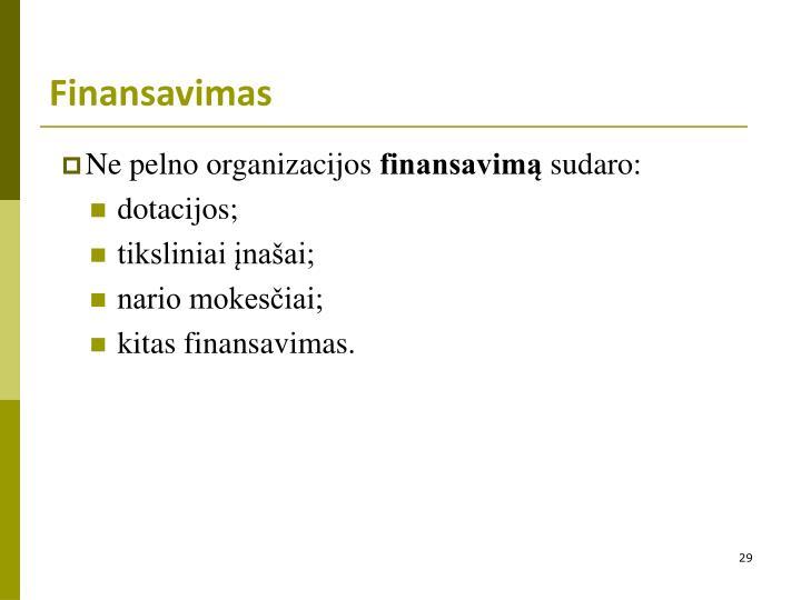 Finansavimas